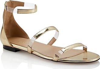 Tamara Mellon Flatline Platino Specchio Sandals, Size - 35.5