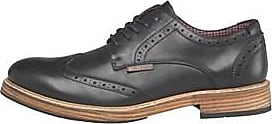 Ben Sherman chunky brogues with smart check lining and stitched-on sole