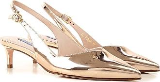 Stuart Weitzman Sandals for Women On Sale, Gold, Patent, 2017, US 7.5 (EU 38)
