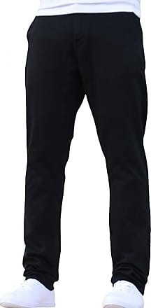 Enzo Jeans New Mens EZ348 Slim Fit Stetch Designer Black Jeans Chinos W30 - L30