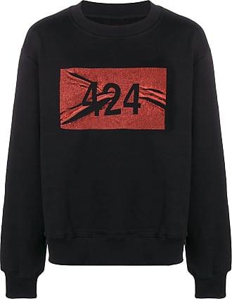 424 Felpa con logo stampato - Di colore nero