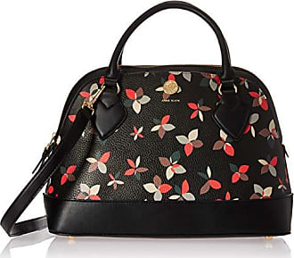 Anne Klein Signature Triple Compartment Dome Satchel, Black/Multi