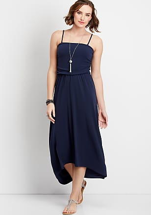 Maurices Solid Tube Top Maxi Dress