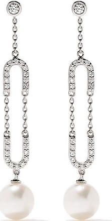 Yoko London 18kt white gold Trend freshwater pearl and diamond earrings - 7