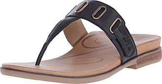 Aetrex Womens Zara D-Ring Thong, Black, 35 EU/5-5.5 M US