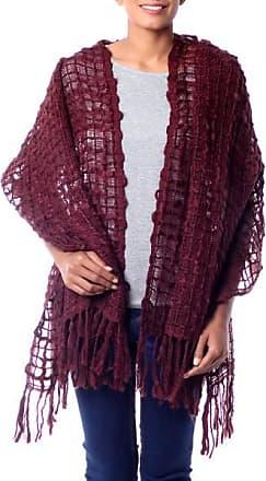 Novica Textured shawl, Gossamer Wine