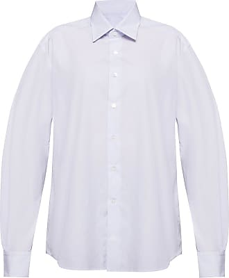 Lanvin Striped Shirt Mens Light Blue