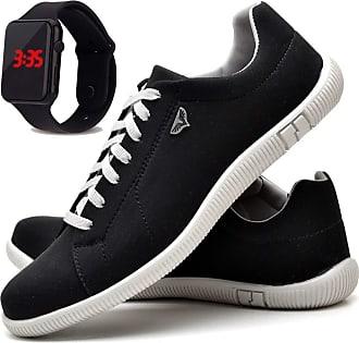 Juilli Sapatênis Sapato Casual Com Relógio LED Masculino JUILLI 900DB Tamanho:43;cor:Preto;gênero:Masculino