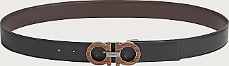 Salvatore Ferragamo Men Reversible and Adjustable Gancini belt Black