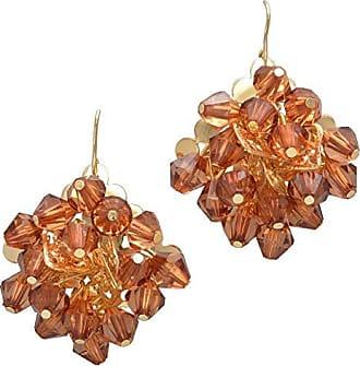 Tinna Jewelry Brinco Dourado Diva Balões De Resina