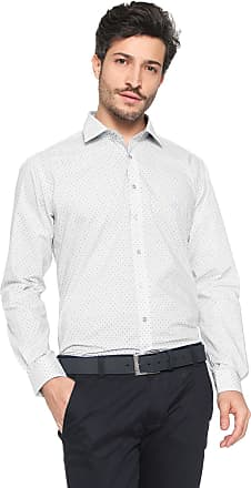Dudalina Camisa Dudalina Slim Estampada Branca f623d8688781d