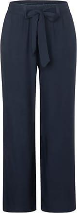 Cecil Wide Leg Hose in Unifarbe - deep blue