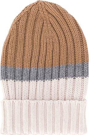 Eleventy colour-block beanie hat - Brown