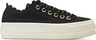 60f8d4aa626 Converse Black Suede Chuck Taylor All Star Lift Frilly Thrills Sneakers