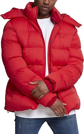 Urban Classics Mens Hooded Boxy Puffer Jacket, Red (Fire Red 00697), XXL