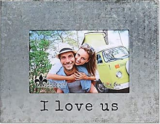Lawrence Frames 4x6 Galvanized Metal Love Us Picture Frame Silver