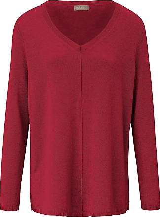 include V-neck jumper in pure cashmere include red