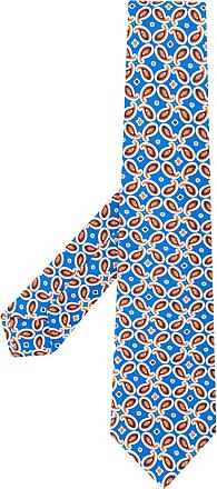 Kiton Gravata com estampa paisley - Azul