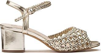 Sandales à talons hauts festonnées, pieds larges