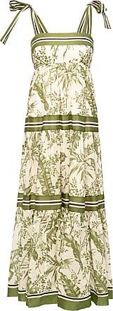 Zimmermann Linen Slip Dress Womens Green