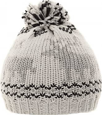 Hawkins chunky knit bobble beanie hat with reindeer design - Grey