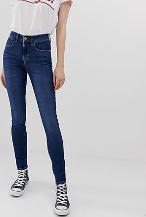 Wrangler Jeans vita alta skinny-Blu