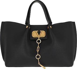 Valentino Tote - Medium Logo Escape Shopping Bag Leather Black - black - Tote for ladies