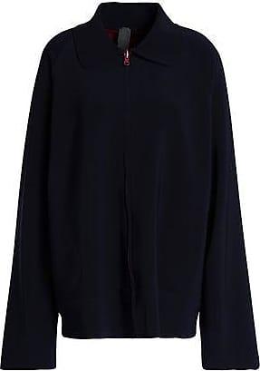 Norma Kamali Norma Kamali Woman Reversible Stretch-jersey Jacket Midnight Blue Size XS