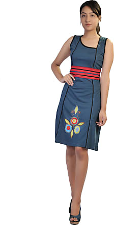 WOMEN SUMMER SLEEVELESS SPIRAL EMBROIDERY /& PATCH DRESS !