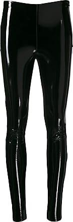 Karl Lagerfeld Legging com acabamento encerado - Preto