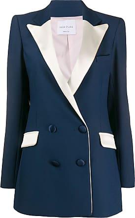Hebe Studio Blazer bicolor com abotoamento duplo - Azul