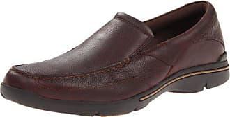 Rockport Mens Eberdon Slip-On Loafer- Dark Brown Leather-6.5 W