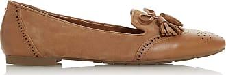 Dune London Dune Ladies Womens GEENIES Brogue Detail Tassel Trim Loafer Size UK 5 Tan Flat Heel Loafers