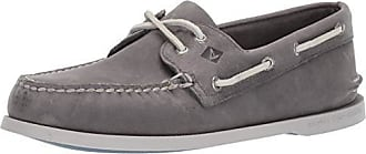 Sperry Top-Sider Sperry Mens A/O 2-Eye Richtown Boat Shoe Oxford, Grey, 11.5 M US
