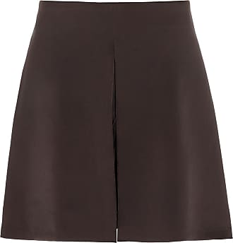 The Crocale Tulip Silk Shorts Chocolate