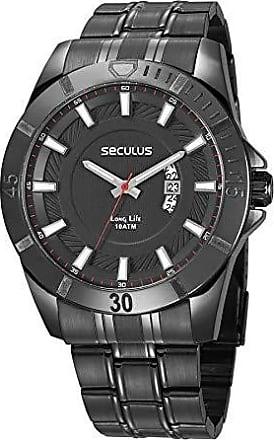 Seculus Relógio Seculus Masculino Ref: 28960gpsvpa2 Esportivo Black
