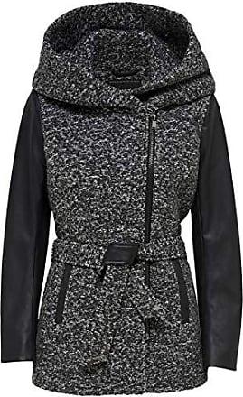 94bd8c7b8a987d Only Damen Wollmantel Mantel Jacke LISFORD KEY WOOL COAT Übergang Winter  (L, grau (