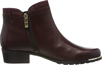 Caprice Womens Kelli Ankle Boots, Red (Bordeaux Comb 551), 3.5 UK