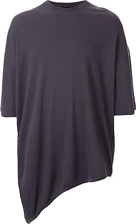 Julius Camiseta mangas curtas assimétrica - Cinza