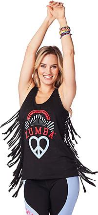 Zumba Burnout Dance Workout Gym Tank Graphic Print Fitness Workout Tops Women, Bold Black Print, M