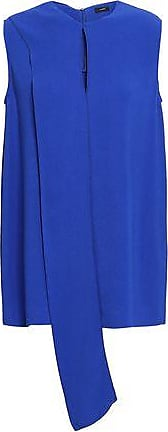 Joseph Joseph Woman Pussy-bow Stretch-crepe Blouse Royal Blue Size 42