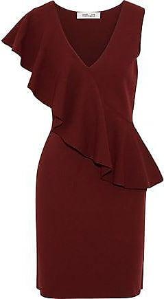 d2dfc7aae10f Diane Von Fürstenberg Diane Von Furstenberg Woman Ruffled Stretch-knit Mini  Dress Brick Size XS