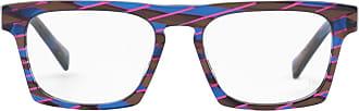 Alain Mikli Armação de Óculos Retangular Estampada - Mulher - Azul - Único FR
