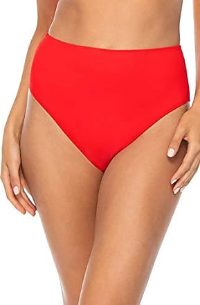 Sunsets Womens The High Road Full Coverage Bikini Bottom Swimsuit, Scarlet, 14