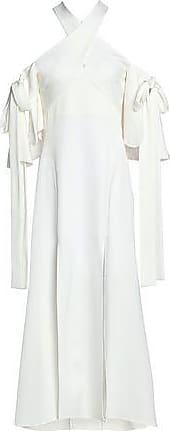 d604953a9c90 Ellery Ellery Woman Sly Cold-shoulder Satin-crepe Midi Dress Ivory Size 6
