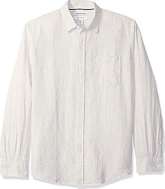 Essentials Camicia che si abbottona Uomo Slim-fit Short-sleeve Gingham Shirt