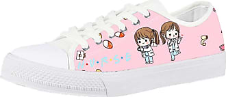 Coloranimal Comfortable Funny Cute Cartoon Pink Nurse Doctor Shoes for Teenager Girl Gym Sport Running Walker Footwear Women Vulcanize Low-top Casual Canvas Flats