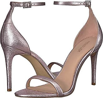 e92e311965b9 Rachel Zoe Emma Crystal Buckle Sandal (Powder Metallic) Womens Shoes