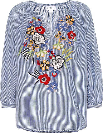 Velvet Melia embroidered cotton blouse