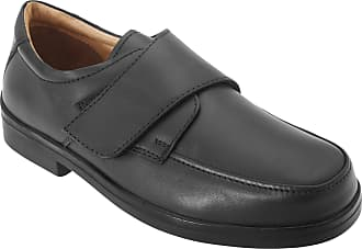 Roamers Mens Extra Wide Fitting Touch Fastening Casual Shoes (13 UK) (Black)